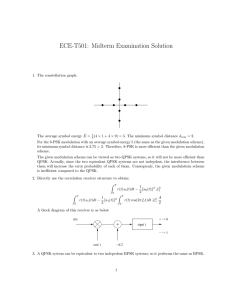 ECE-T501: Midterm Examination Solution