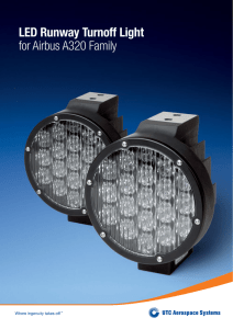 LED Runway Turnoff Light for Airbus A320 Family