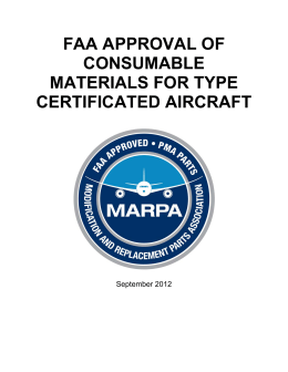 FAA Approval of Consumable Materials for Type