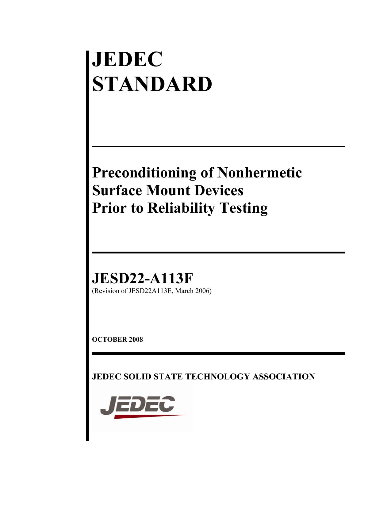 JEDEC STANDARD