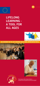 LIFELoNG LEArNING - A tooL For ALL AGES