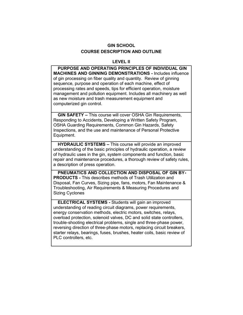 Gin School Course Description And Outline Level Ii Electrical Measurements Simple Electric Motors