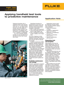 Applying handheld test tools to predictive maintenance