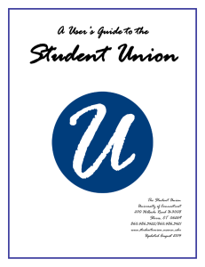Union Policies - Student Union