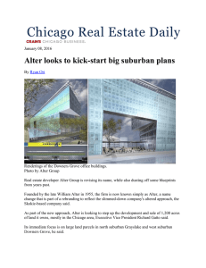 Alter looks to kick-start big suburban plans