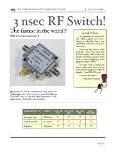 3 nsec RF Switch! - MP Associates, Inc.