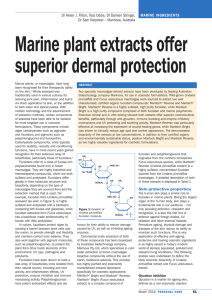 Marine plant extracts offer superior dermal protection