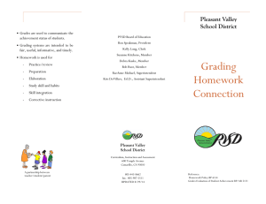 Grading-Homework Connection - Pleasant Valley School District