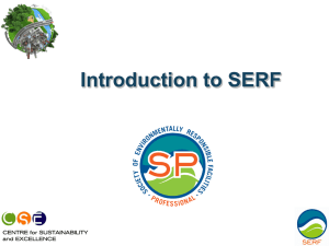 Introduction to SERF