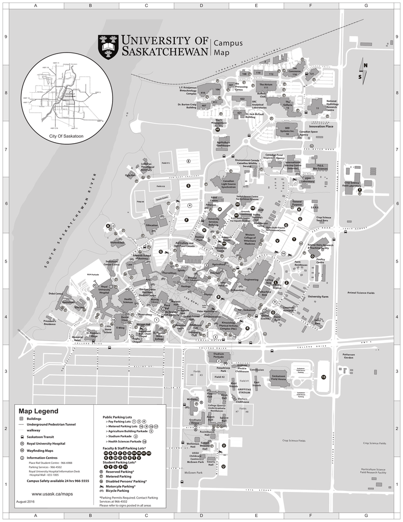 university of saskatchewan campus map Campus Map University Of Saskatchewan university of saskatchewan campus map