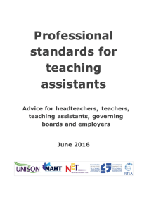 Advice template - Maximising the Impact of Teaching Assistants