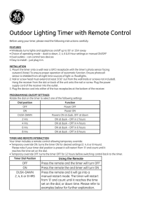 Outdoor Lighting Timer with Remote Control
