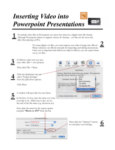 Inserting Video into Powerpoint Presentations