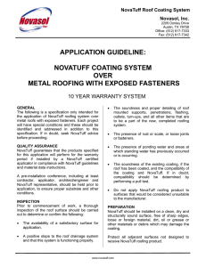 application guideline: novatuff coating system over