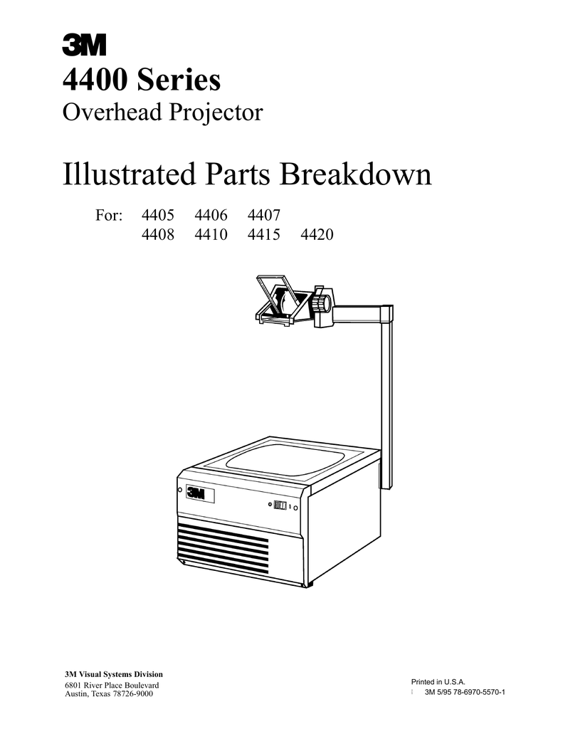 4400 Series Illustrated Parts Breakdown