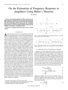 Estimation Of frequency Response using Millers Theorem