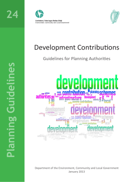 Development Contributions - Department of Housing, Planning