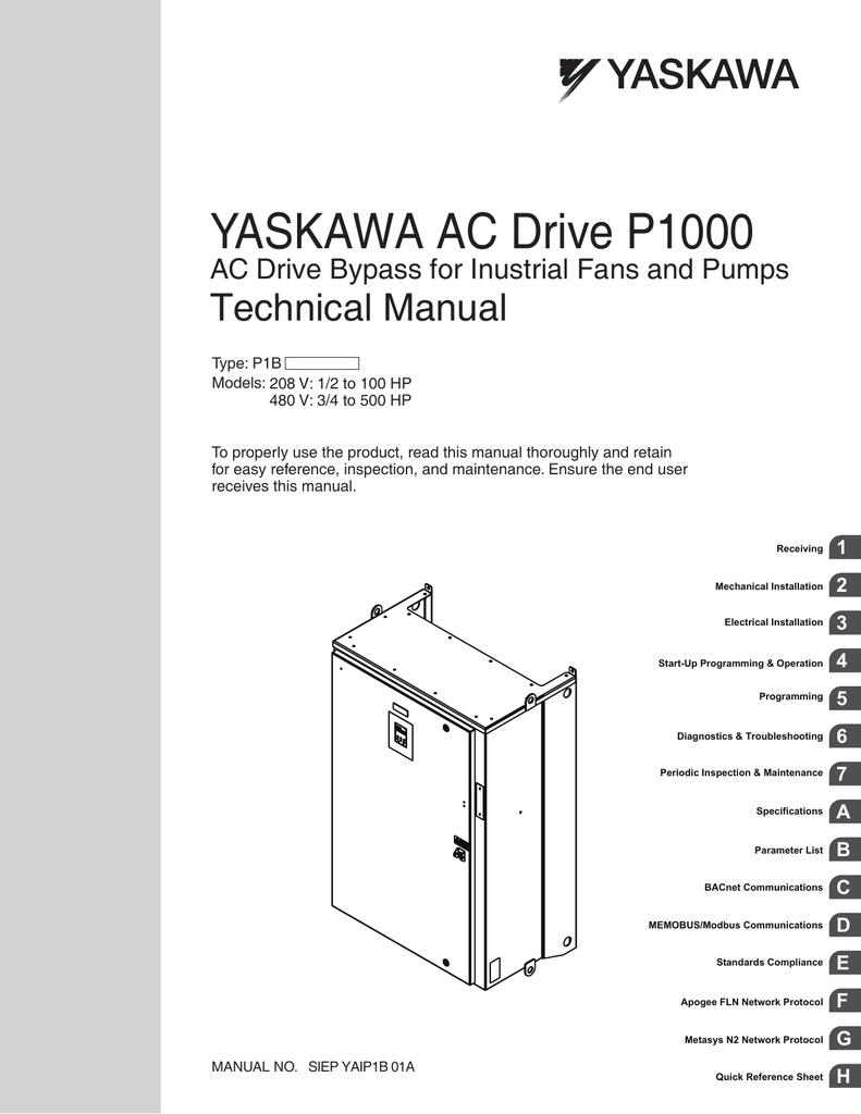 Yaskawa Vfd Wiring Diagrams Simple Diagram Shematics Drives Ac Drive P1000 V1000