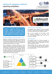 deltaconX regulatory platform reporting simplified
