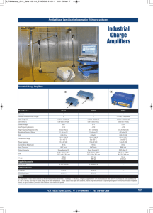 Industrial Charge Amplifiers