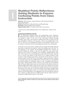 Muddiest Points Reflections: Asking Students to Express Confusing