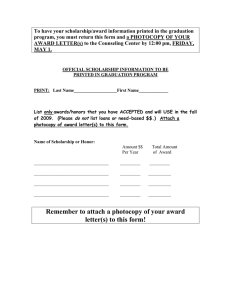 Remember to attach a photocopy of your award letter(s) to this form!