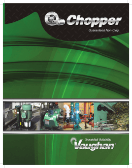 Guaranteed Non-Clog - Vaughan Chopper Pumps