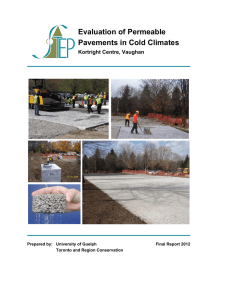 Evaluation of Permeable Pavements in Cold Climates