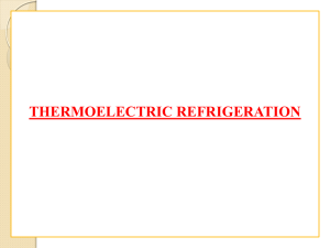 Thermoelectric Refrigeration: An Introduction