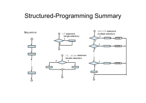 Structured-Programming Summary