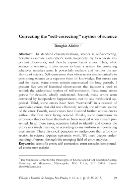 "Correcting the ""self-correcting"" mythos of science"