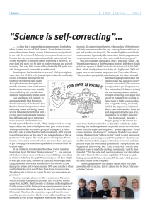 """Science is self-correcting"""