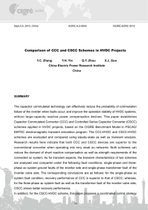 Comparison of CCC and CSCC Schemes in HVDC Projects
