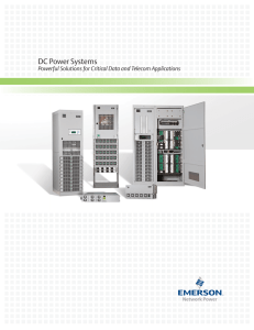 DC Power Systems - Emerson Network Power