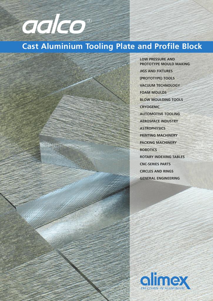Cast Aluminium Tooling Plate and Profile Block