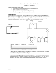 Resistors in Series and Parallel Circuits (Using CCK simulation) I