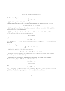 Math 3B: Homework 6 Solutions Problem 8.2.1: Suppose dy dx = y(2