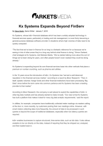 Kx Systems Expands Beyond FinServ