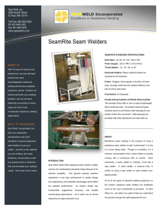 Seam Welder Brochure