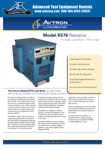 Model K576 Resistive - Advanced Test Equipment Rentals