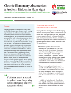 Chronic Elementary Absenteeism: A Problem