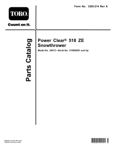 Power Clear ® 518 ZE Snowthrower