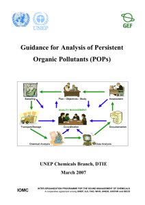 Guidance for Analysis of Persistent Organic Pollutants (POPs)