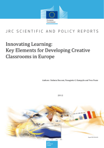 Key Elements for Developing Creative Classrooms in Europe