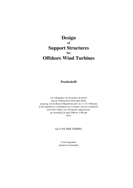 Design Support Structures Offshore Wind Turbines
