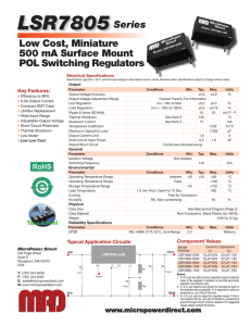 LSR7805 Datasheet - Micropower Direct