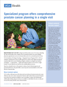 Specialized program offers comprehensive prostate