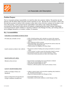 Lot Associate Job Description