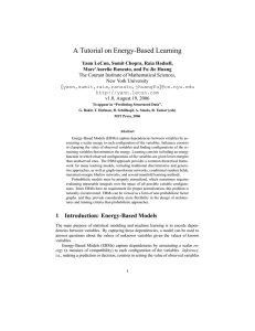 A Tutorial on Energy-Based Learning
