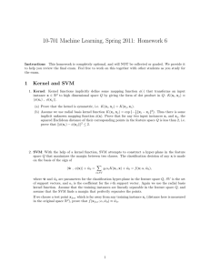 10-701 Machine Learning, Spring 2011: Homework 6